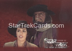 Star Trek The Next Generation Season Six Trading Card 532