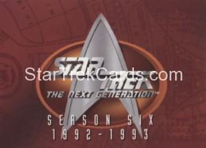 Star Trek The Next Generation Season Six Trading Card 533