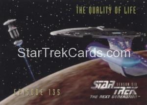 Star Trek The Next Generation Season Six Trading Card 564