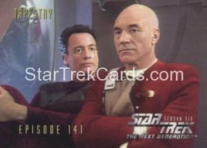 Star Trek The Next Generation Season Six Trading Card 581