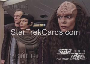 Star Trek The Next Generation Season Six Trading Card 601