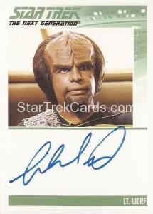 Star Trek The Next Generation Heroes Villains Autograph Michael Dorn
