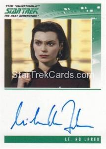 Star Trek The Next Generation Heroes Villains Autograph Michelle Forbes Ensign Ro Laren
