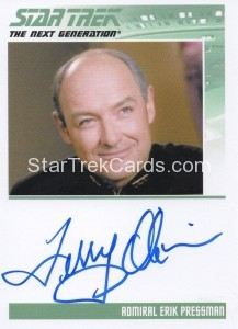 Star Trek The Next Generation Heroes Villains Autograph Terry OQuinn