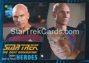Star Trek The Next Generation Heroes Villains Trading Card 1