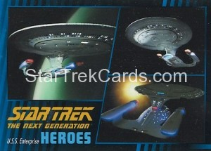 Star Trek The Next Generation Heroes Villains Trading Card 100