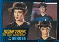 Star Trek The Next Generation Heroes Villains Trading Card 121