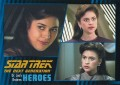 Star Trek The Next Generation Heroes Villains Trading Card 151