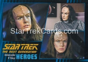 Star Trek The Next Generation Heroes Villains Trading Card 161