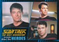 Star Trek The Next Generation Heroes Villains Trading Card 2