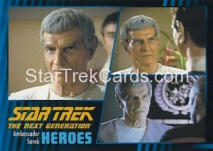 Star Trek The Next Generation Heroes Villains Trading Card 24