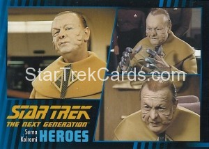 Star Trek The Next Generation Heroes Villains Trading Card 251