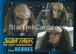 Star Trek The Next Generation Heroes Villains Trading Card 271