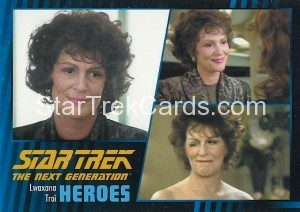 Star Trek The Next Generation Heroes Villains Trading Card 28