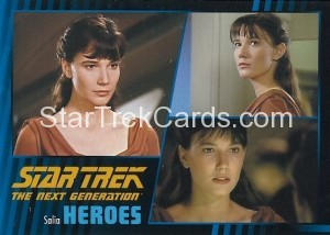 Star Trek The Next Generation Heroes Villains Trading Card 341