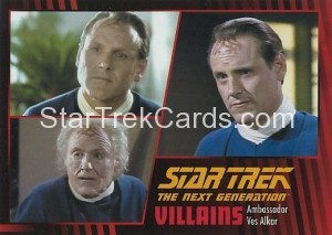 Star Trek The Next Generation Heroes Villains Trading Card 351