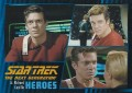 Star Trek The Next Generation Heroes Villains Trading Card 37