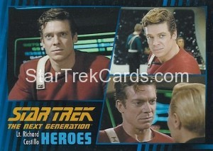Star Trek The Next Generation Heroes Villains Trading Card 371