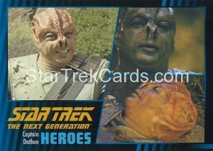 Star Trek The Next Generation Heroes Villains Trading Card 41