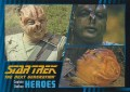 Star Trek The Next Generation Heroes Villains Trading Card 411