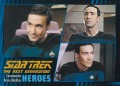 Star Trek The Next Generation Heroes Villains Trading Card 491
