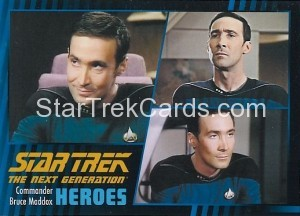 Star Trek The Next Generation Heroes Villains Trading Card 491