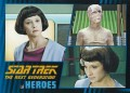 Star Trek The Next Generation Heroes Villains Trading Card 50