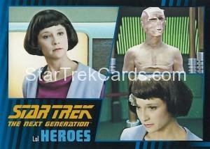 Star Trek The Next Generation Heroes Villains Trading Card 50