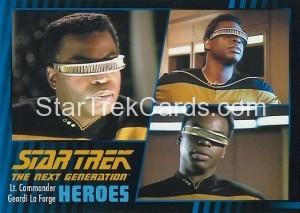 Star Trek The Next Generation Heroes Villains Trading Card 510
