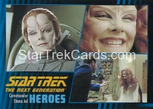 Star Trek The Next Generation Heroes Villains Trading Card 54