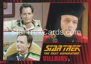 Star Trek The Next Generation Heroes Villains Trading Card 55