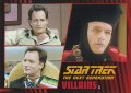Star Trek The Next Generation Heroes Villains Trading Card 551