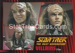 Star Trek The Next Generation Heroes Villains Trading Card 591
