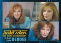 Star Trek The Next Generation Heroes Villains Trading Card 6