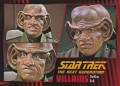 Star Trek The Next Generation Heroes Villains Trading Card 61