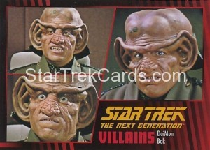 Star Trek The Next Generation Heroes Villains Trading Card 61