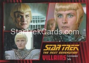 Star Trek The Next Generation Heroes Villains Trading Card 641
