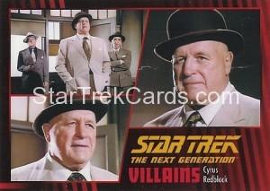 Star Trek The Next Generation Heroes Villains Trading Card 66