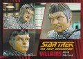 Star Trek The Next Generation Heroes Villains Trading Card 701