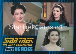 Star Trek The Next Generation Heroes Villains Trading Card 710