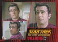 Star Trek The Next Generation Heroes Villains Trading Card 711