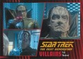 Star Trek The Next Generation Heroes Villains Trading Card 73