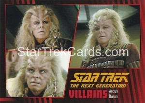 Star Trek The Next Generation Heroes Villains Trading Card 74