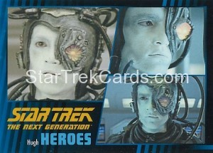 Star Trek The Next Generation Heroes Villains Trading Card 75