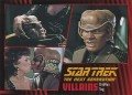 Star Trek The Next Generation Heroes Villains Trading Card 78
