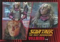 Star Trek The Next Generation Heroes Villains Trading Card 80