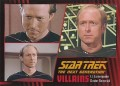 Star Trek The Next Generation Heroes Villains Trading Card 831
