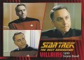 Star Trek The Next Generation Heroes Villains Trading Card 84
