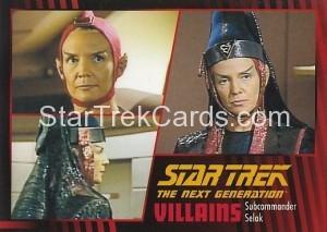 Star Trek The Next Generation Heroes Villains Trading Card 85