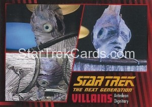 Star Trek The Next Generation Heroes Villains Trading Card 911